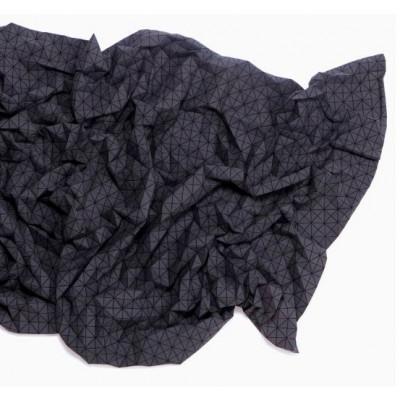Geometrischer Origami-Wurf | Schwarz