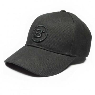 B' Cap Black   Black Patch