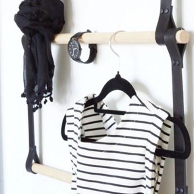 Leather Ladder   Black