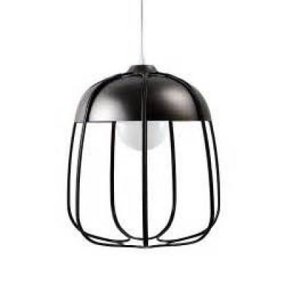 Tull Pendant Lamp   Black Nickel/Black