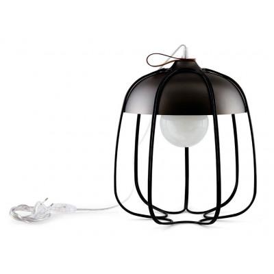Tull Table Lamp   Black Nickel/Black