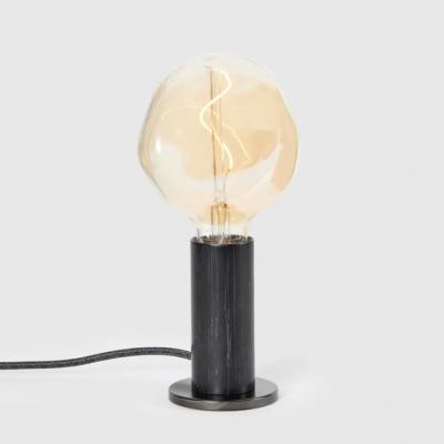 Tischlampe  Knuckle mit Voronoi I Glühbirne   Geschwärzte Eiche
