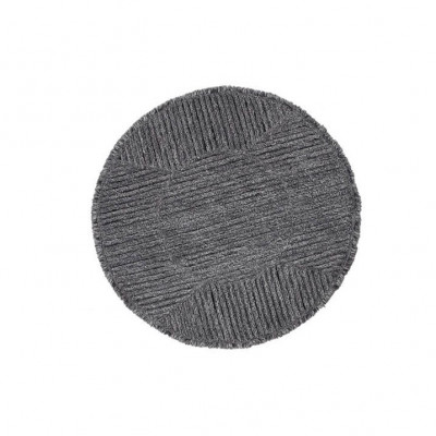 Wollteppich | Schwarzer Tee | Grau