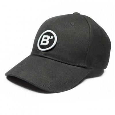 B' Cap Black   White Patch