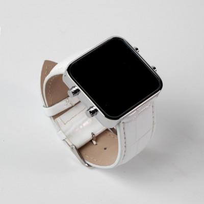 Digital Watch | Silver, White