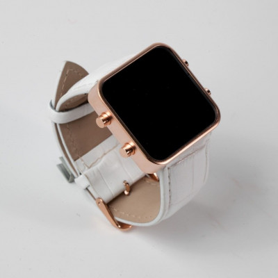 Digital Watch | Gold, White