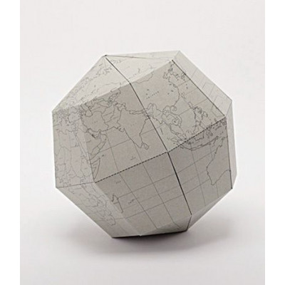 Blank Sectional Globe | Grey
