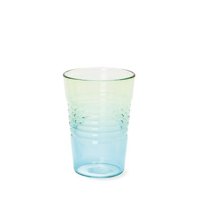 Glas Ombre Low | Blau Grün