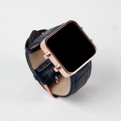 Digital Watch | Gold, Blue