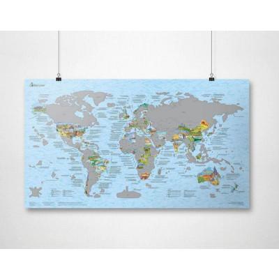 Scratch-Weltkarte   Bucketlist