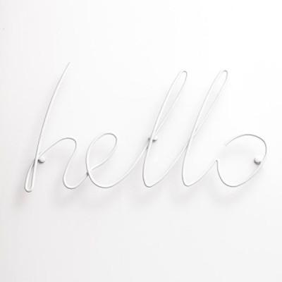 Hello Coat Rack | White