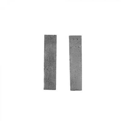 Ohrringe BLOCK | Grau