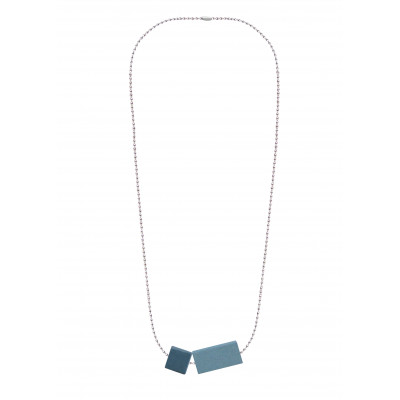 Halskettenblock Kleines Duo | Grau