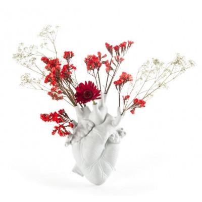 Vase Liebe in Blüte | Weiß