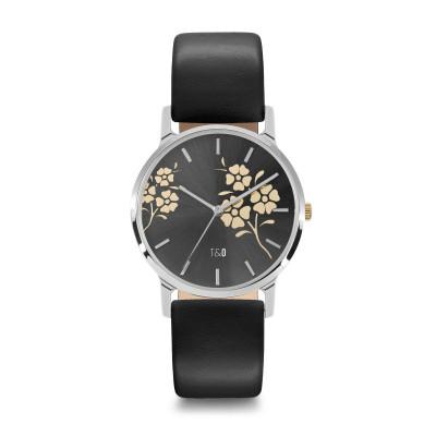 Frauen-Uhr Bloom 34   Schwarz