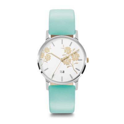 Frauen-Uhr Bloom 34   Türkis