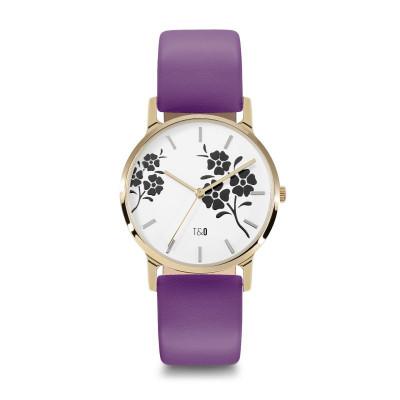 Frauen-Uhr Bloom 34   Violett