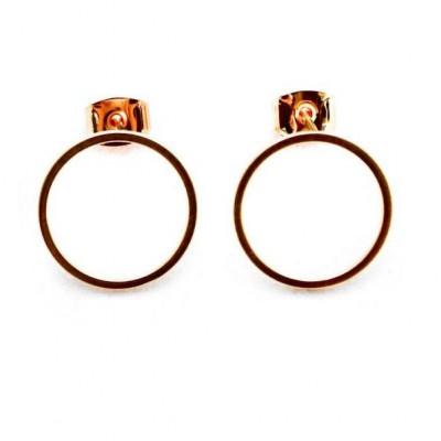 Earrings | Bopha Golden Circle Studs