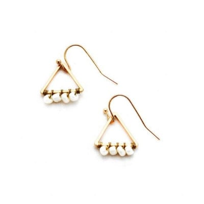 Earrings | Small Beaded Triangle