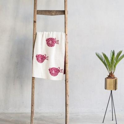 Baby Blanket Blowfish | Cherry Red