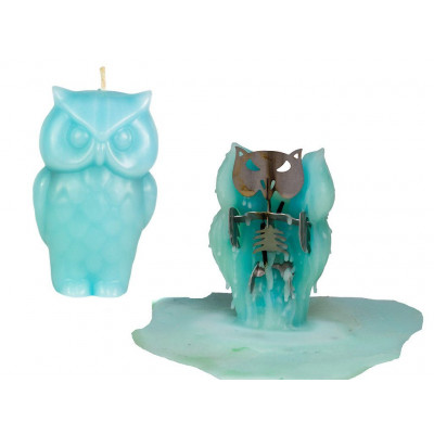 Owl Candle - Blue