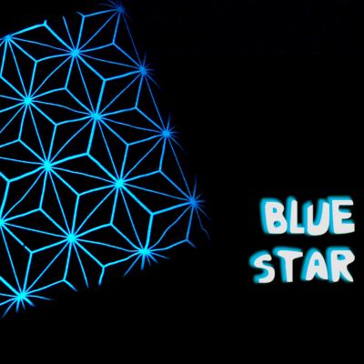 Decke Force Field | Blauer Stern, rosa Decke