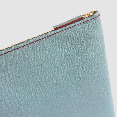 Laptop Case | Light Blue & Burgundy