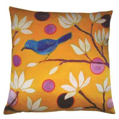Designer-Kissen Blauer Vogel