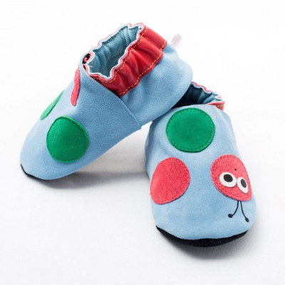 Blaue kleine Wurm-Softsole-Schuhe
