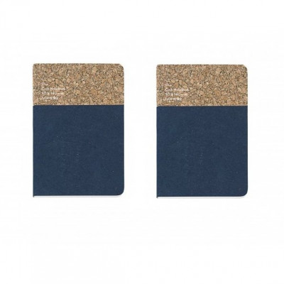 Small Cork Notebook Set of 2 | Blue