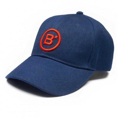 B' Cap Blue   Red Patch