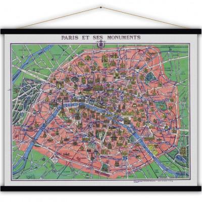 Vintage-Poster | Paris und Denkmäler