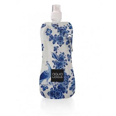Wasserflasche Blaue Fliesen Pfau