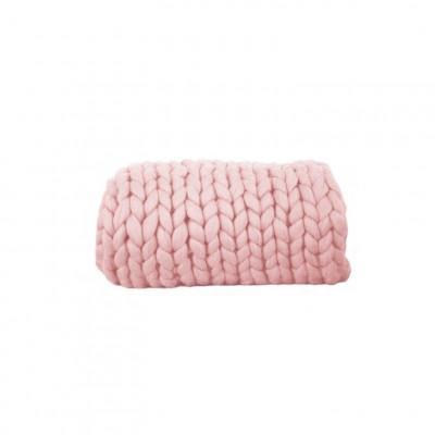 Chunky Wool Blanket | Blush