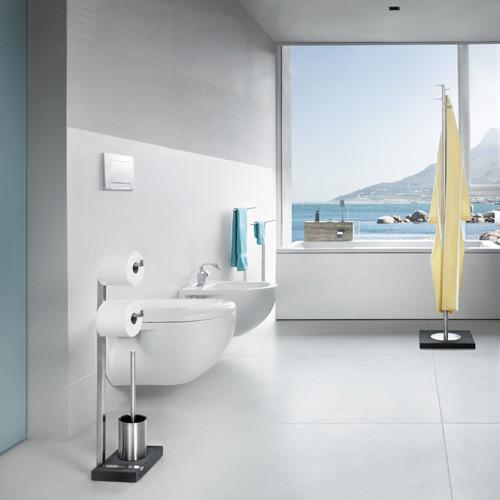 Valet de Toilettes Menoto 2 | Acier Inoxydable Poli