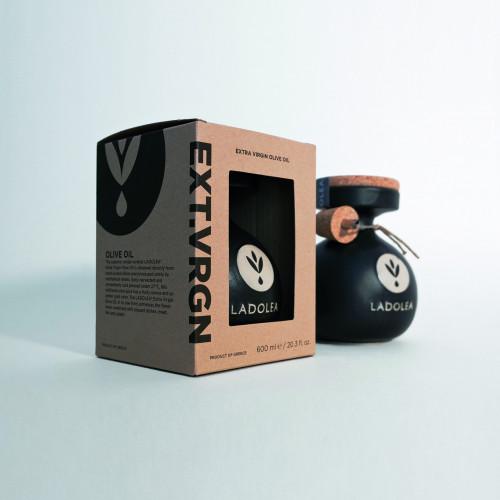 Extra Virgin Olive Oil | Black, cardboard packaging