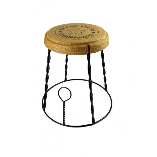 Side Table Giant Champagne Cork | Black Wire