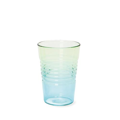 Glas Ombre Low   Blau Grün