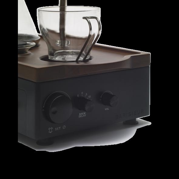Tea or Coffee Brewing Alarm Clock | Black