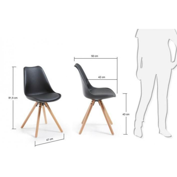 Chair Tars   Black & Wood