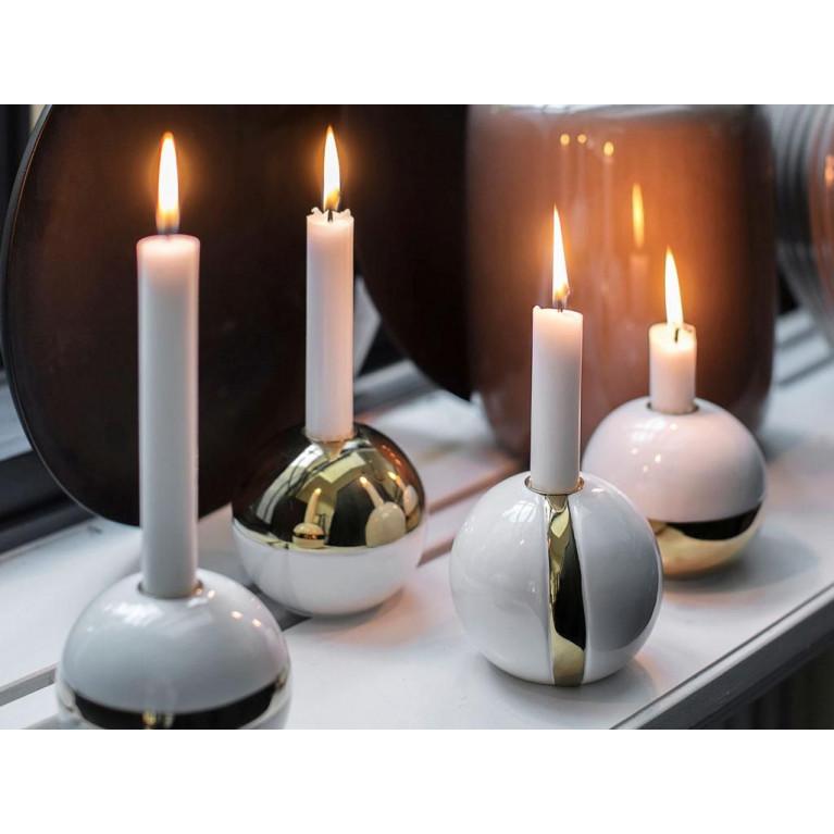 Kerzenständer Karma   Weiß & Gold #4