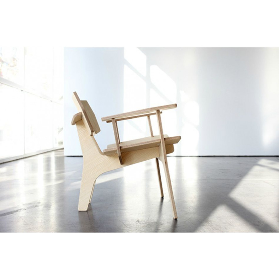 Elephant Lounge Chair with armrests (birch core)