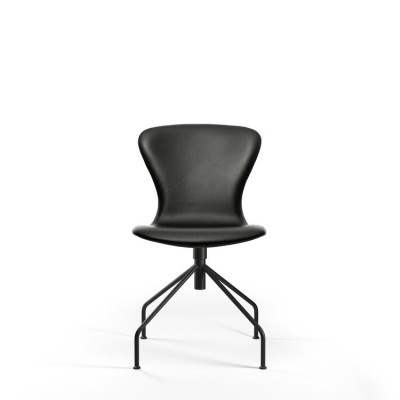 PLAYswing Chair Fully Upholstered Hero Leather | Black