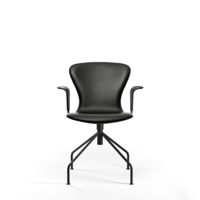 PLAYswing Armchair Fully Upholstered Hero Leather | Black