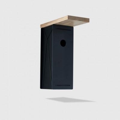 Bird House   Oak & Black