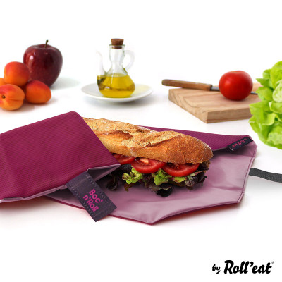 Wiederverwendbare Sandwichverpackung Boc'n'Roll Quadrat | Rosa