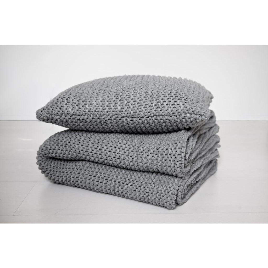 Bobo-Kissen- Grau-50x50cm