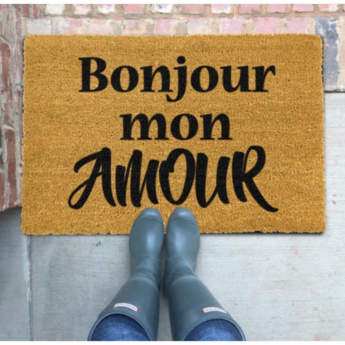 Fußmatte Bonjour Mon Amour