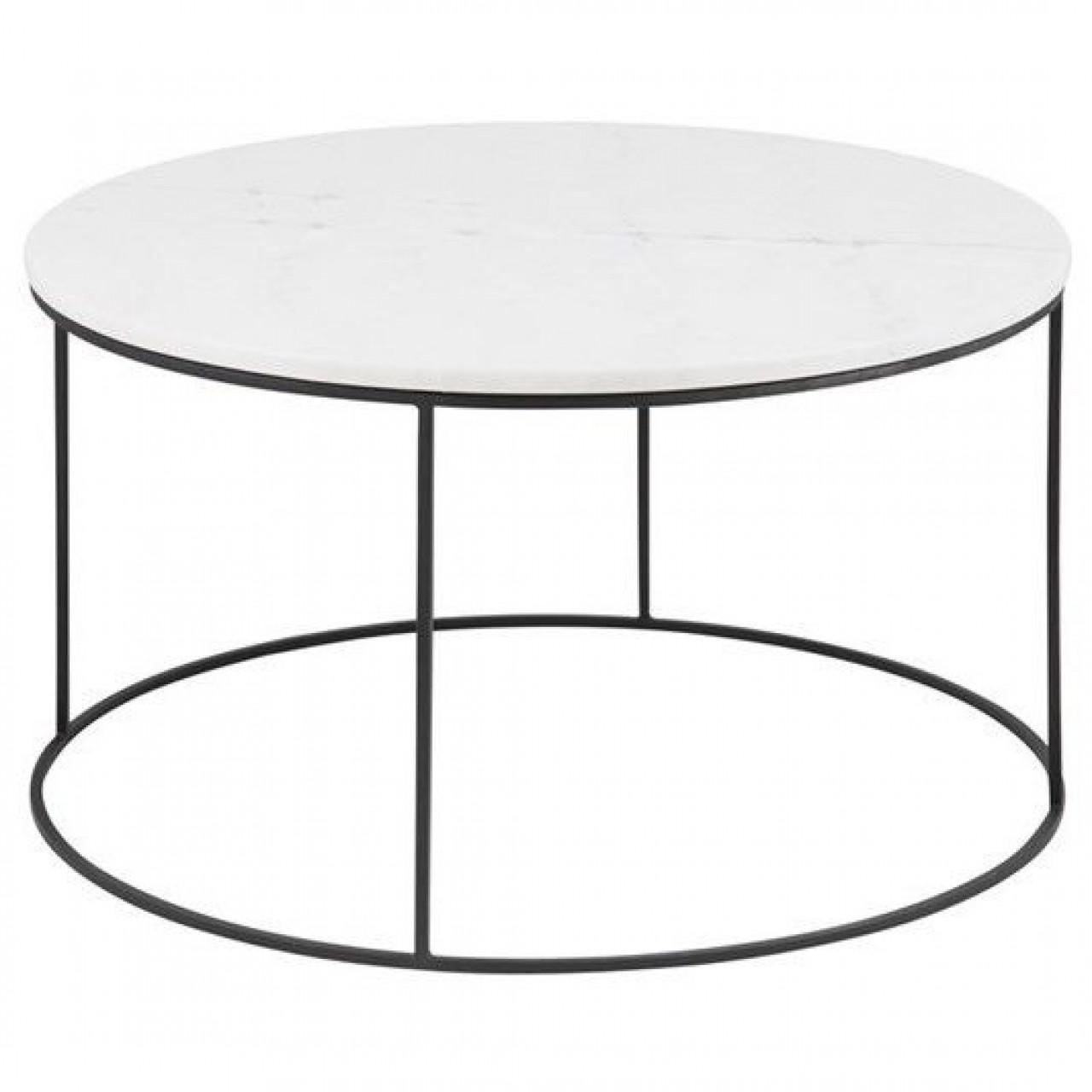 Balto Coffee Table Ø 80 | White Marble