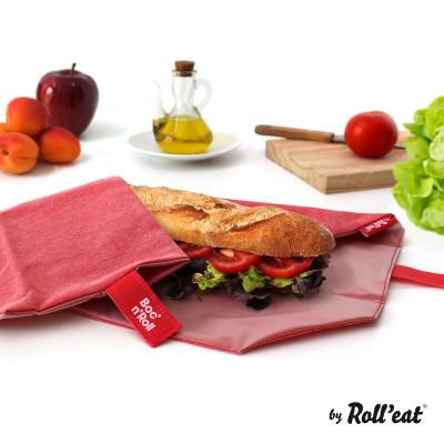 Wiederverwendbare Sandwichverpackung Boc'n'Roll Eco | Rot